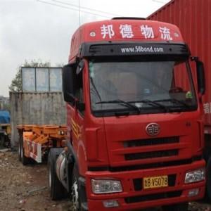 青岛港进出口集装箱陆运六轴集装箱拖车到临沂方向