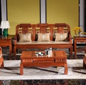 东阳高端十大品牌红木缅甸花梨木家具龙腾三代沙发厂家直销