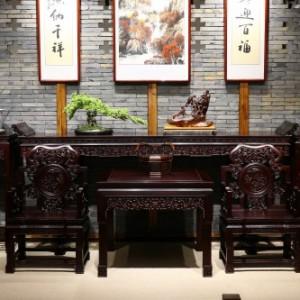 宁波景红木堂国标红木家具客厅系列灵芝中堂古典大气