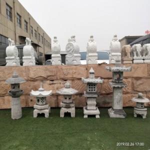 青石仿古石灯笼日式庭院草坪石灯龛景观装饰