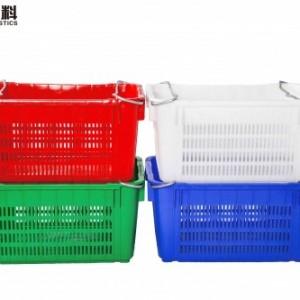 长方形塑料筐批发塑料水果周转筐物流包装周转箱AAA级产品光丰
