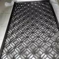 高端拉丝黑钛不锈钢镂空屏风高档酒店宾馆大厅花格餐厅金属隔断