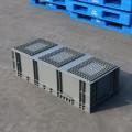 EU41028箱 歐標塑料物流箱灰色塑料物流倉儲塑料箱