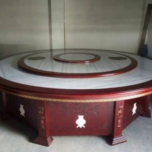 广东餐厅家具 电动桌子批发 包间大圆桌加工厂 订做大理石圆桌