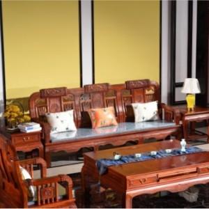 东阳十大品牌红木家具缅甸花梨木龙腾二代沙发厂家直销就