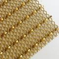廠家專業訂制不銹鋼網XY-2510鍍金裝飾網屏風隔斷金屬裝飾