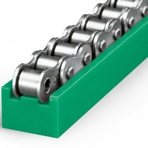 定制加工聚乙烯链条导轨 T-型单排塑料导轨 UPE食品包装链