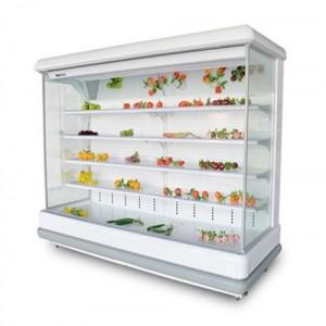 南通鲜花保鲜风幕柜尺寸图片 蔬菜风幕岛柜价格实惠