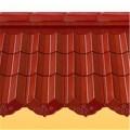 强辉陶瓷波纹瓦釉面波形瓦现代建筑别墅屋面瓦彩釉大红三曲瓦