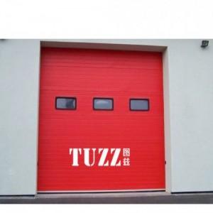南通化工厂消防电动提升门 红色消防车库提升门