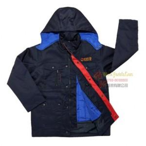制衣厂定制夹棉工作服棉衣加厚可拆卸两件套中长款防寒服劳保服