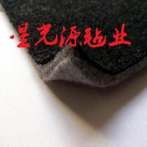 汽车车载行李箱毛毡黑色毛毡面料针刺棉无纺布***