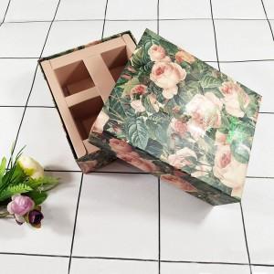 安徽固定纸盒玫瑰花茶包装盒厂家定做