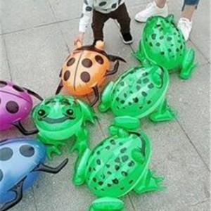 充气乌龟带led灯充气发光甲壳虫猪弹跳发光充气玩具青蛙