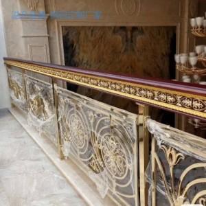雕花镀金铜艺围栏是我梦寐以求的装饰品