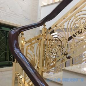 淮阳扭弯铜楼梯是艺术装饰品
