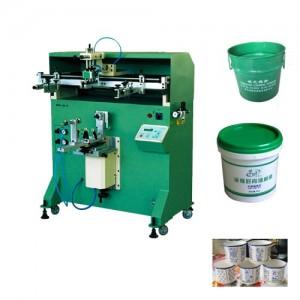 唐山市花盆丝印机垃圾桶滚印机塑料桶丝网印刷机厂家定制