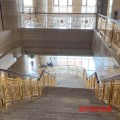 酒店旋转铜艺楼梯扶手有着艺术优美造型