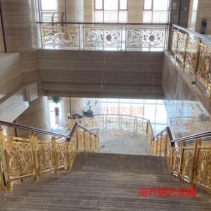 装饰界的主流装饰品--铜艺沙金楼梯扶手 铜艺楼梯护栏