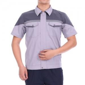 夏季透气耐磨短袖工作服套装半袖反光劳保服铁路工程定制