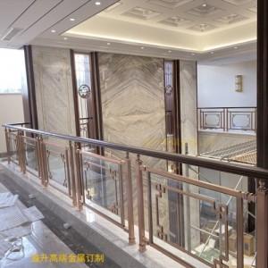 遂宁钛金铜艺弧形楼梯护栏理想中的家