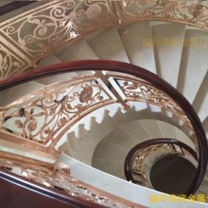 铜艺钛金雕花楼梯扶手物超所值的装饰品