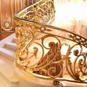 姜堰不锈钢雕刻楼梯美观于一体的装饰品