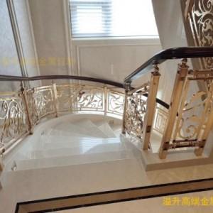 天峨北欧风格轻奢镂空玫瑰金铜楼梯护栏