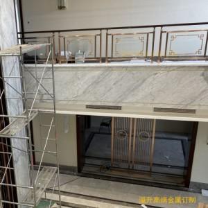 镀金铜楼梯扶手 铜雕刻楼梯护栏凸显大气