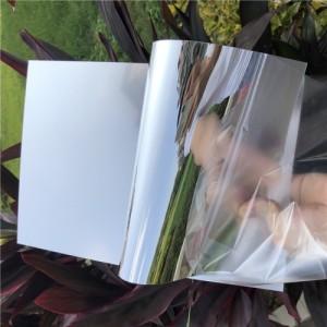 厂家直销PETG环保镜子 玩具镜片 不碎petg镜片背胶背纸
