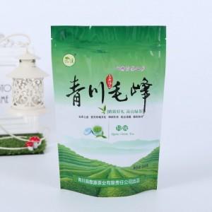 厂家定制自立自封茶叶袋绿茶包装袋防潮小茶叶袋镀铝塑料袋定做