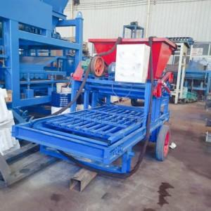 建筑工程护坡砖机 振动成型塑模混凝土制砖设备 预制件布料机