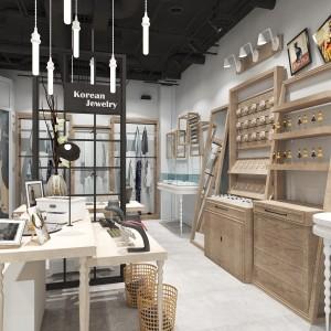 浦江欧式服装展示柜厂家供应 烤漆整店定制成套展柜厂家价格