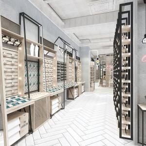 义乌市欧式服装展示柜参考价格 木制整店定制成套展柜厂家现货