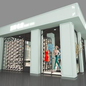 新昌童装展柜木纹展示架2020年新款 厨卫餐具烤漆柜厂家订制