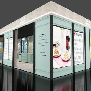 江西欧式复古珠宝展柜厂家定做 外贸鞋店皮具展柜2020年新款