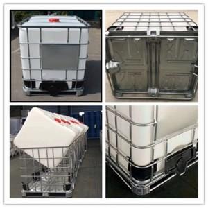 1000升塑料化工桶 1吨塑料桶信息 带钢管护栏集装吨桶 食
