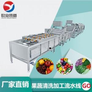 商用蔬菜清洗流水线 餐厅洗菜机 果蔬气泡清洗机净菜加工设备