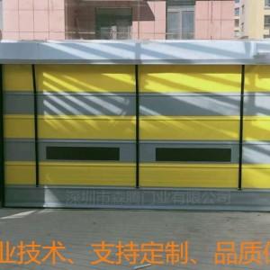 重庆抗风快速堆积门安装 物流堆积折叠门出厂批发商