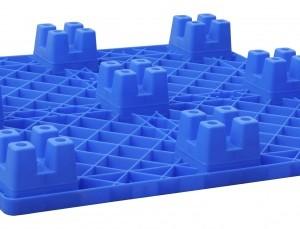 供应塑料九脚托盘 EU箱物流专用川字托盘 高密度HDP