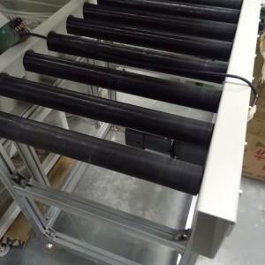 惠州家用电器包装包胶滚筒动力输送线