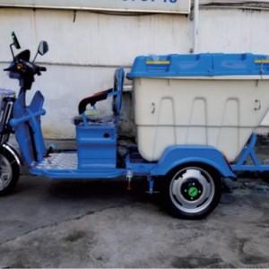 供应500L小型电动三轮翻桶车三轮物业垃圾清运车