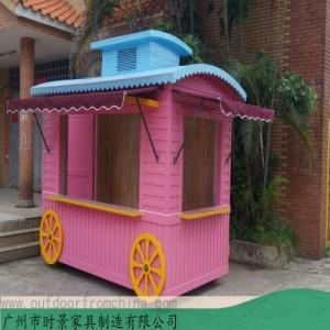 西安步行街售货车 广场售卖亭 景区纪念品玩具售卖车