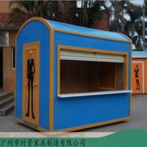 深圳街区小商品售货亭设计制作个性化时尚百货饰品售货亭价格