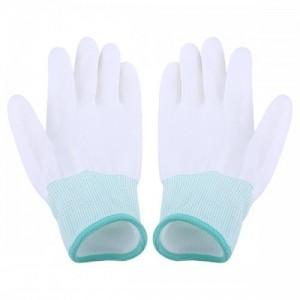 PU涂掌手套针织尼龙PU涂层浸胶劳保作业防护无尘电子手套