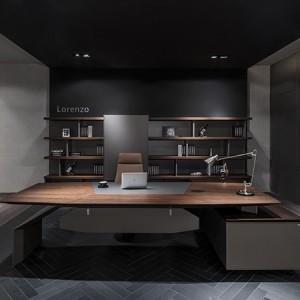 武汉汇俱优品办公家具老板办公桌定做Y-015大气