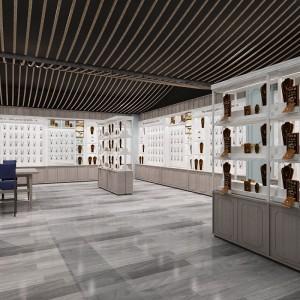 海口中式实木茶叶展示柜设计厂家 精思-电脑耗材展示柜工厂报价