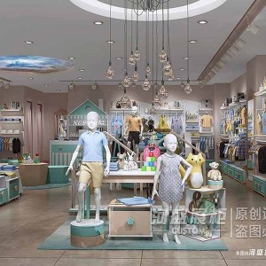 广州河盛展示柜童装专卖店展柜定制厂家