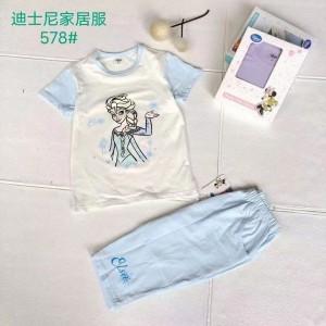 广州品牌童装批发 迪士尼家居服套装 品牌童装尾货