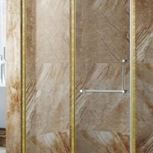 东莞卫浴淋浴房家居卫生间装修 宾馆钻石型简易淋浴隔断安装方法